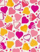 情人节背景同色的心,矢量图 — 图库矢量图片