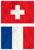 Switzerland and French flags — Stock Vector