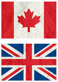 England and Canadian flag — Stock Vector