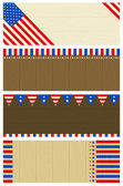 Four  usa wooden banners — Stock Vector