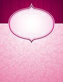 Fondo rosa con gran corazón — Vector de stock