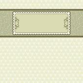label on beige background,  vector illustration — 图库矢量图片