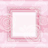 Background of roses and square frame, vector — Stock Vector