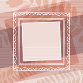 Beige decorative background with frame, vector — Stockvector