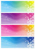Modern  banners with snowflakes, vector illustration — Stock Vector