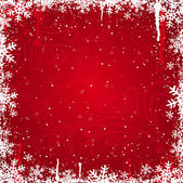 Red christmas background, vector — Cтоковый вектор
