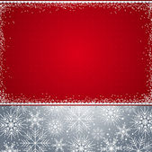 červené vánoční pozadí, vektor — Stock vektor