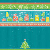 Color christmas background, vector — Stock Vector