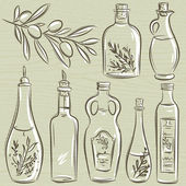 Set of bottle for olive oil, vector — Vetorial Stock