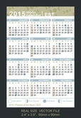 Vector calendar 2015 with Phases of the moon, EST — Vettoriale Stock