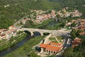 Landscape with houses in Veliko Tarnovo, Bulgaria — Stock Photo
