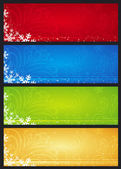 Christmas banners with snowflakes, vector illustration — Stock Vector