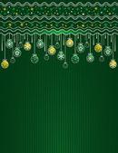 Green christmas card, vector — Stock Vector