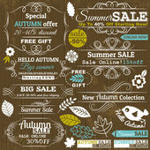 Set of special sale offer labels and banners, vector — Stock Vector