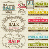 Set of special sale offer labels and banners , vector — Stock vektor