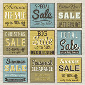 Set of special sale offer labels and banners , vector — Stock Vector