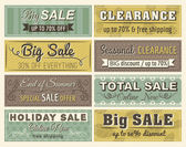 Set of special sale offer labels and banners , vector — Vecteur
