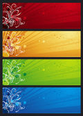 Modern  banners with floral ornament, vector — Stock Vector
