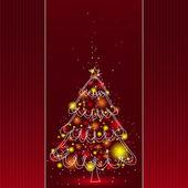 Christmas tree, vector — Stock Vector