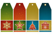 Christmas  labels, vector  — Stok Vektör