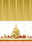 Color christmas card, vector — Stock Vector