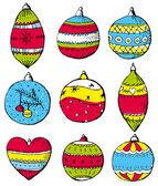 Color christmas balls, vector — Stock Vector