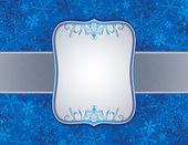 Blue christmas background, vector — Stock Vector