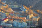 The city of Gorno-altaisk (aerial view). — Stock Photo