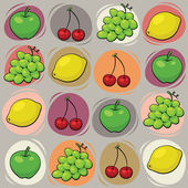 Fruits pattern — Stock Photo