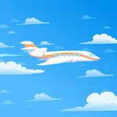 Flying plane — Stock Vector