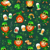 St.Patrick's Day's pattern — Stock Vector