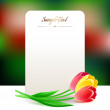 Beautiful vertical rectangular greating card with spring flowers — Stockvektor