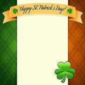 St Patrick's Day's poster with irish flag's colors — Stock Vector