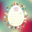 Beautiful Instagram Easter Card — Stock Vector #43640687