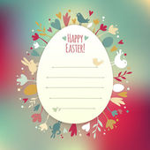 Beautiful Instagram Easter Card — Stock Vector