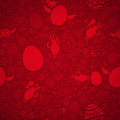Easter Seamless Pattern in Red Colors — Stock Vector