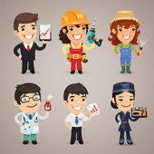 Professions Cartoon Characters Set1.1 — Stock Vector