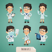 Doctors Cartoon Characters Set1.1 — Vettoriale Stock