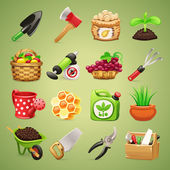 Farmers Tools Icons Set1.1 — Stock Vector