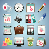 Office Equipment Icons Set1.1 — Stock Vector