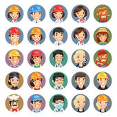 Professions Vector Characters Icons Set1.1 — Stockvektor