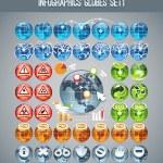 Infographics Globes Set1 — Stock Vector #44726591