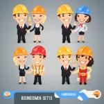 Geschäftsleute-cartoon-Zeichen set1.5 — Stockvektor  #45273217