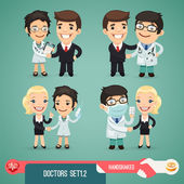 Doctors Cartoon Characters Set1.2 — Stock Vector