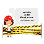Website Under Construction Message — Stock Vector