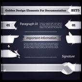 Silver Design Elements For Documentation Set5 — Stock Vector