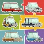 Cartoon Cars Stickers Set — Stock Vector #51390645