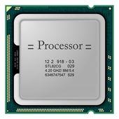 Processor. Computer Hardware — Stock Vector