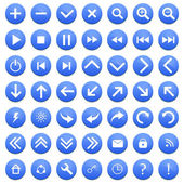 Set of blue buttons — Stock Vector