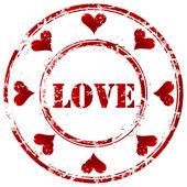 爱情邮票 — 图库矢量图片
